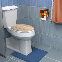 Magic Cube Toilet Paper Dispenser