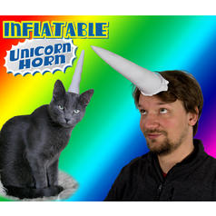Inflatable Unicorn Horn
