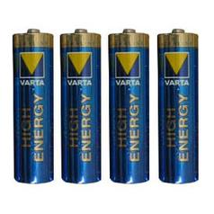 Varta Batteries: 4 * AAA